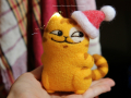 кот Персик новогодний в шапке
