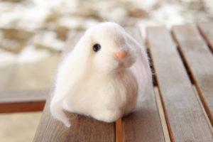 Кролик. Валяние из шерсти. Зайка