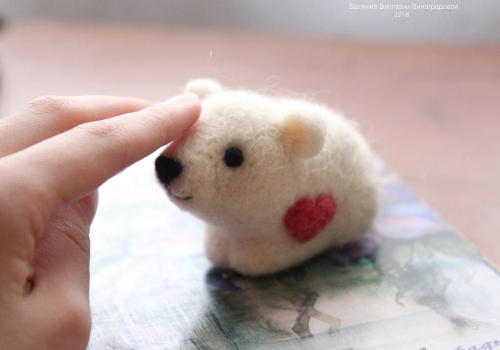 валяние мишка