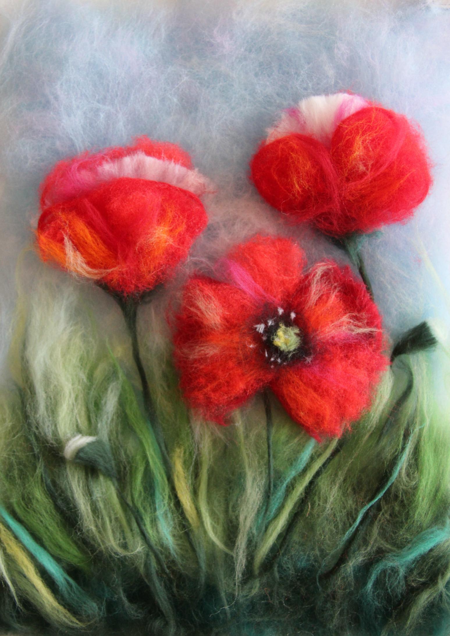 Картинки цветов по валянию