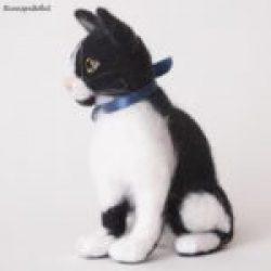 Кошка из шерсти валяние