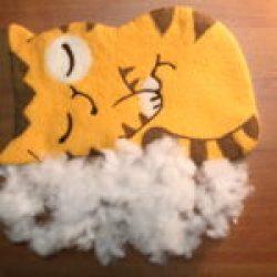 подушка кот персик