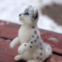 снежный барс игрушка