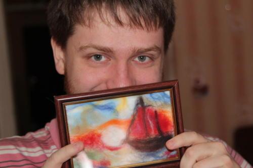 Картины из шерсти