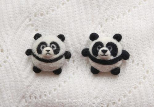 панды брошки брошки